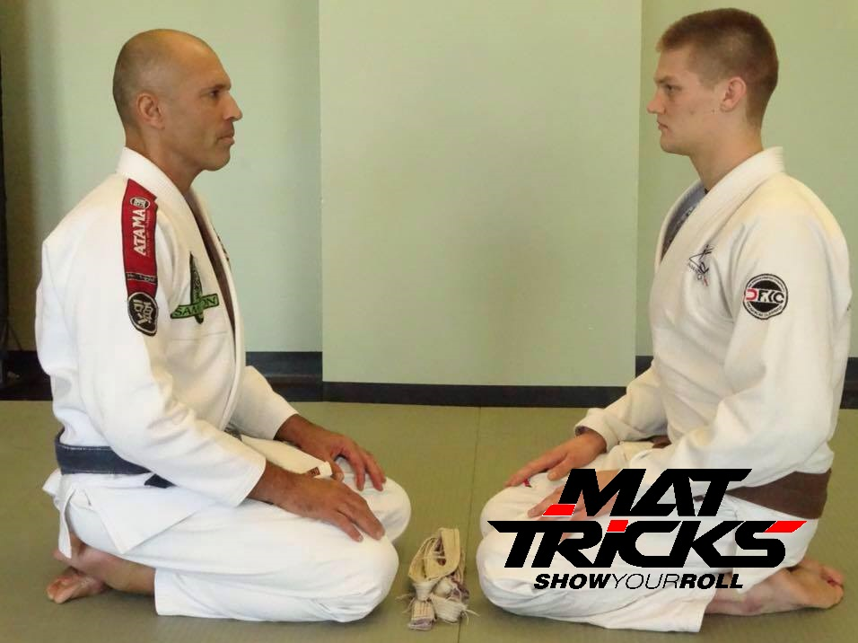 Clay receiving his Brown Belt from MMA and BJJ legend Royce Gracie