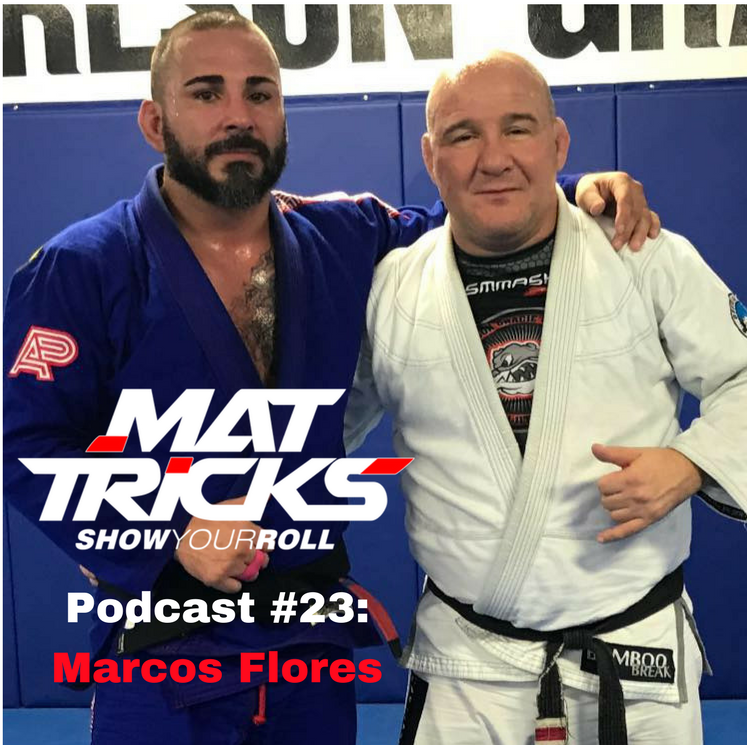 Marcos with the legendary Carlson Gracie Jr.