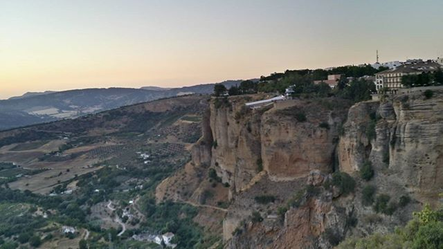 Visiting Ronda in Spain and feeling inspired by the cliff faces