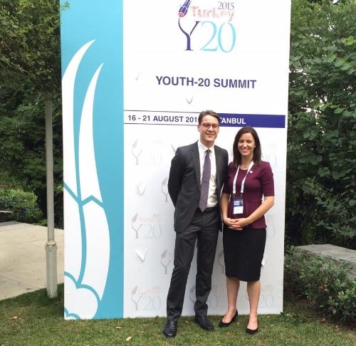 Lachlan Campbell and Erin Watson-Lynn, Y20 Istanbul Turkey, June 2015