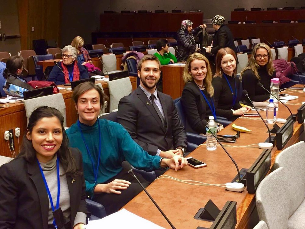 Delegates seated at the plenary session of the 61st session of the UNCSW at the UN Headquarters