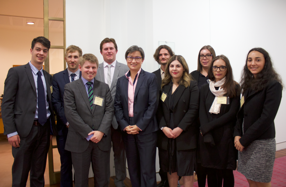 Meeting the hon. senator Penny wong