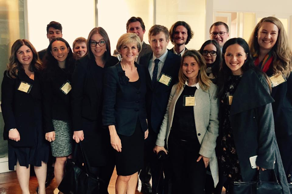 global voices staff and delegates with australia's minister for foreign affairs, the hon. julie bishop