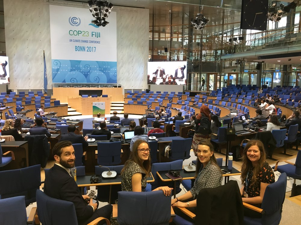 2. Delegates looking at home while watching on in the main Chamber Hall at UN HQ Bonn copy.JPG