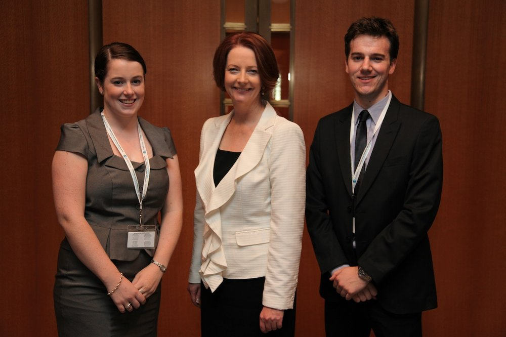 Global Voices AICC Delegates and Prime Minister Gillard copy.JPG