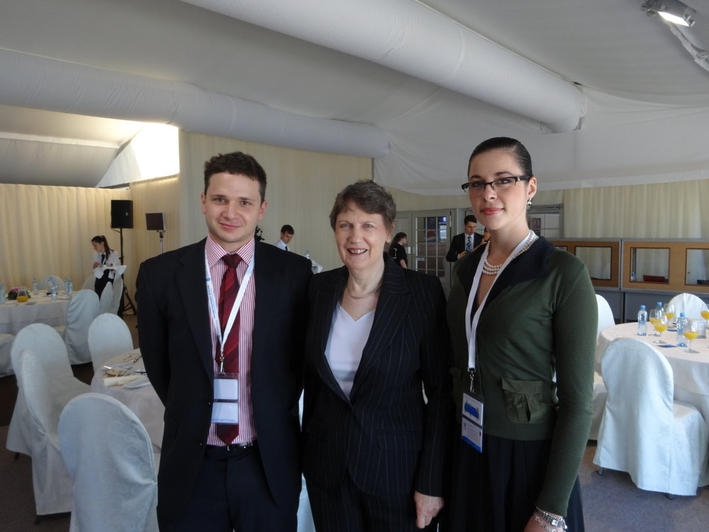 Nick and Laura with Helen Clark (Administrator of the UNDP) copy.JPG