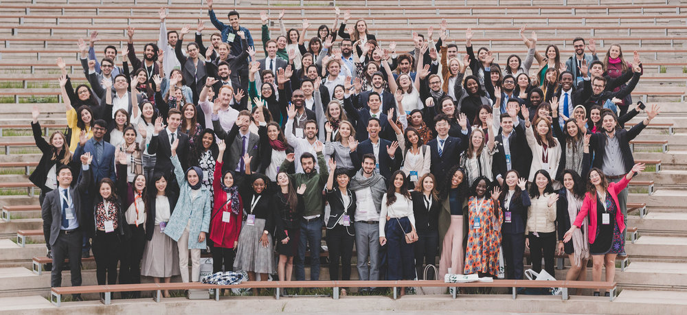 Y20 participants from the 2018 summit in argentina pose for a group photograph.