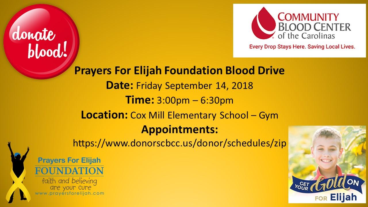 EVENTS — Prayers for Elijah Foundation