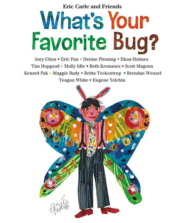 Excited to be part of this amazing Eric Carle book about bugs, featured along with so many other fantastic artists. 🐜🐛🕷