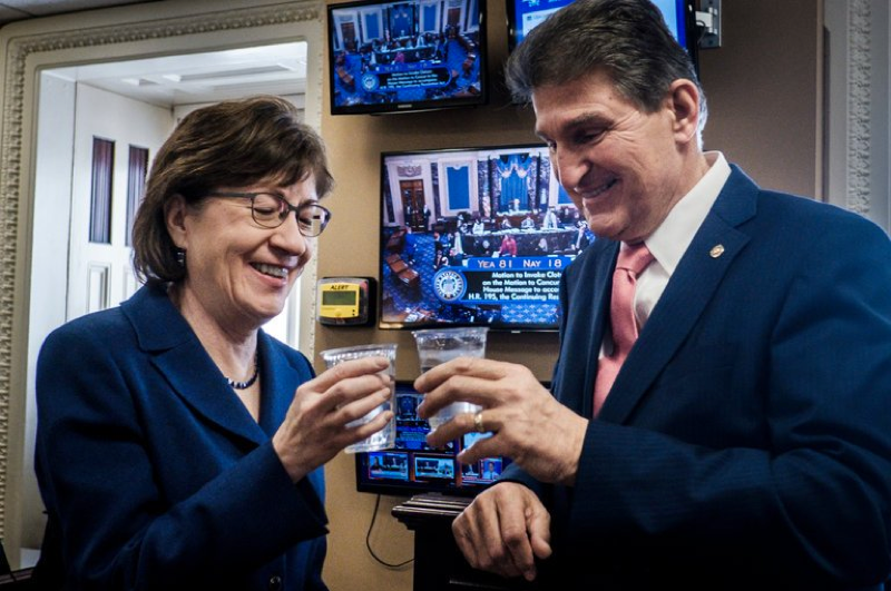 Senators Susan Collins (Republican) and Joe Manchin (Democrat)