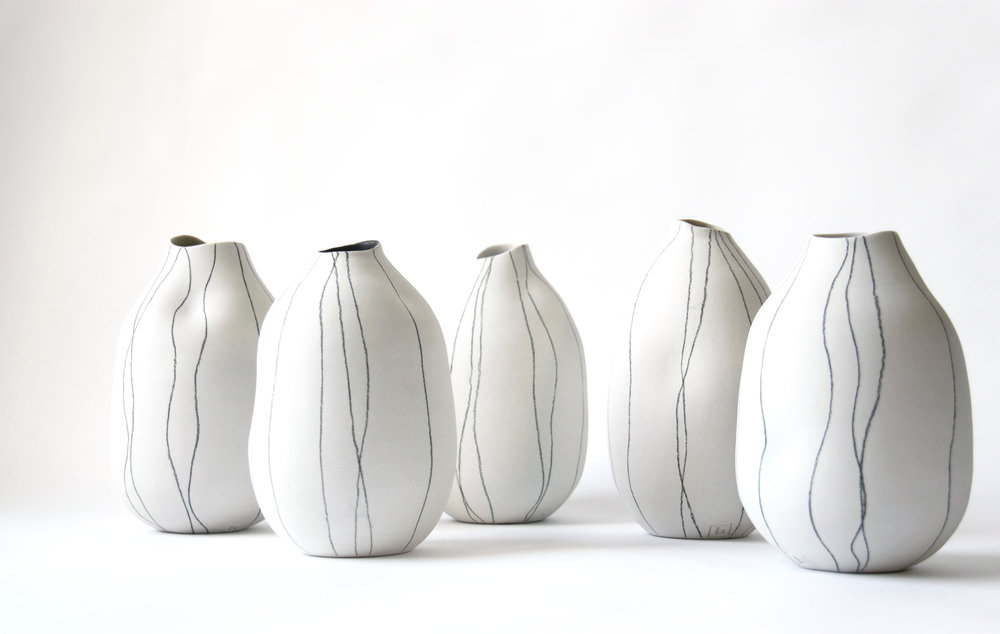sketch .  a new line of vases available now!