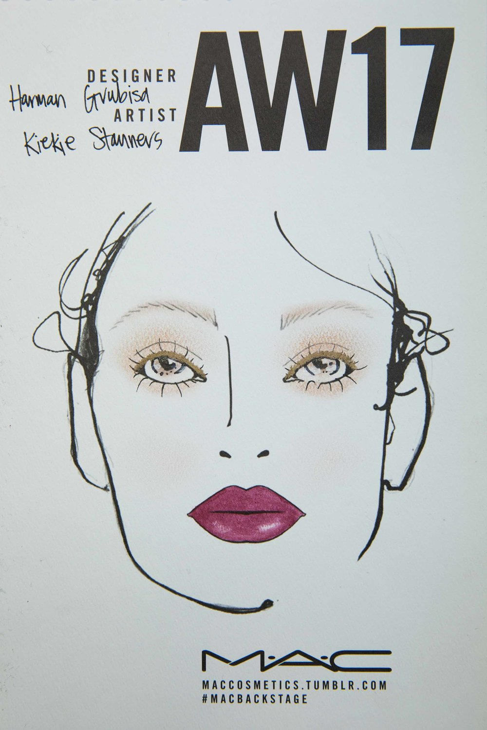 mac cosmetics face chart