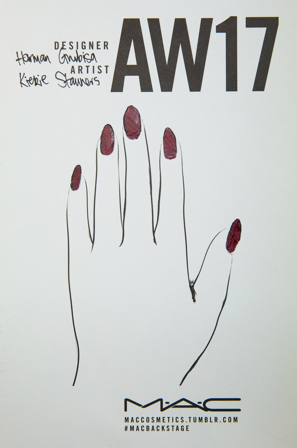 nail chart by mac cosmetics