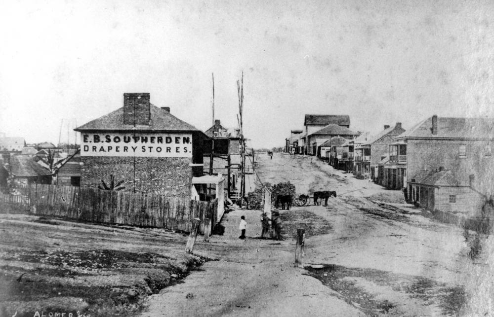 Queen Street c 1859. Source: SLQ