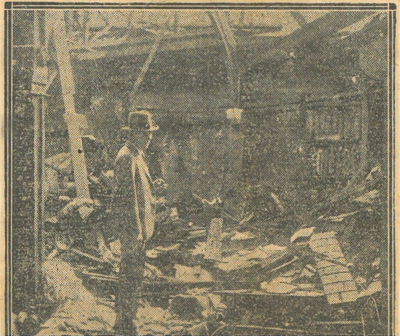 The Scene of the Explosion,  Daily Mail , 15 Aug 1927