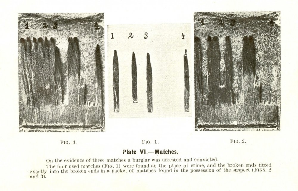 An entry included in the 1914 edition of the Queensland Policeman's Manual showing the plaster cast technique. Image Courtesy of the Queensland Police Museum.