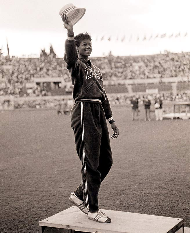 "WILMA RANDOLPH (1940-1994) - In the 1960 Summer Olympics, she became first American woman to win three gold medals in track and field during a single Olympic Games. The Italians called her  La Gazzella Nera  (""The Black Gazelle""); the French -  La Perle Noire  (""The Black Pearl""). She was the fastest woman in the world but shined brighter still as a spokesperson for civil and women's rights."