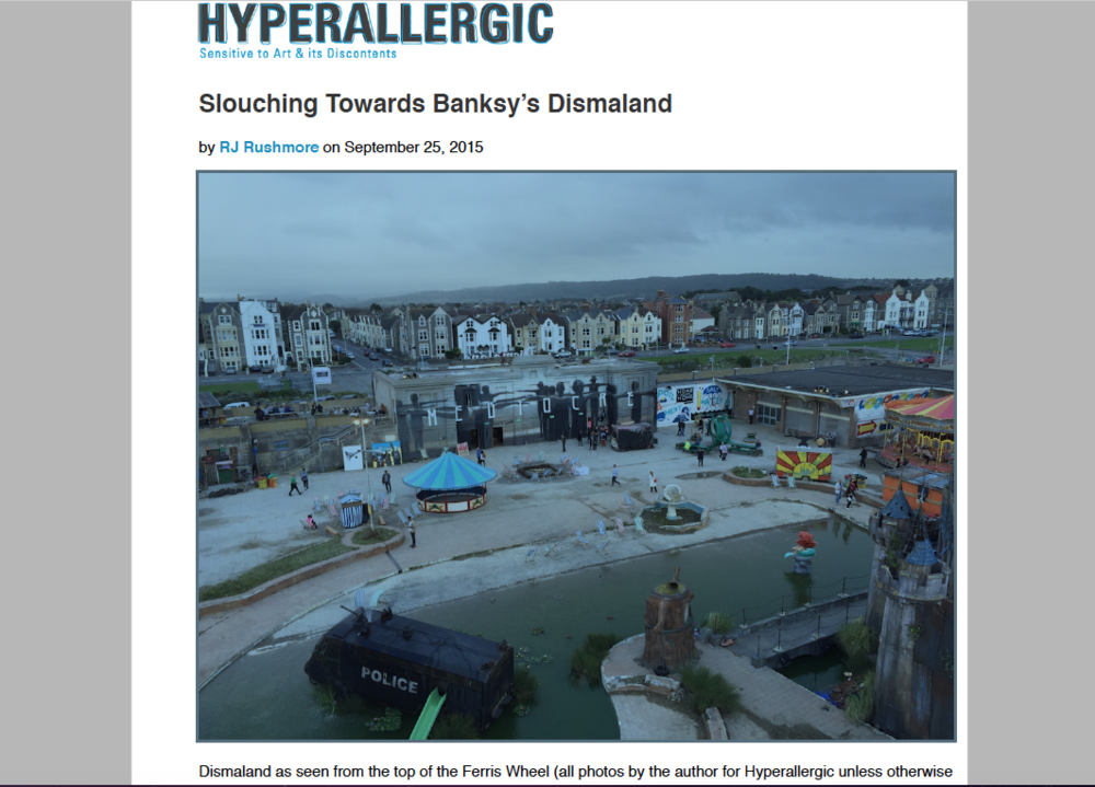 HYPERALLERGIC - Dismaland - August 2015 - Weston Upon Mare, UK
