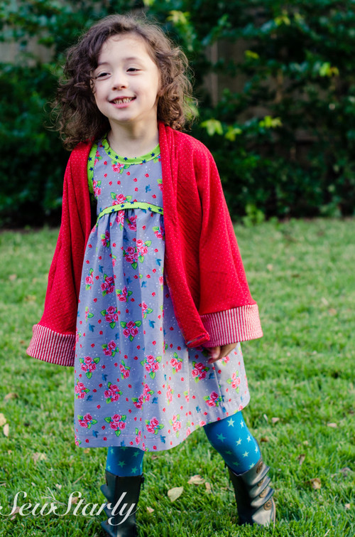 Sew Starly - sweet little flowers and stars galore for a super fun outfit!