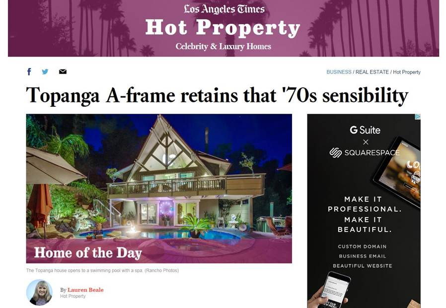 Home of the Day: Topanga A-frame retains that '70s sensibility (LA Times)