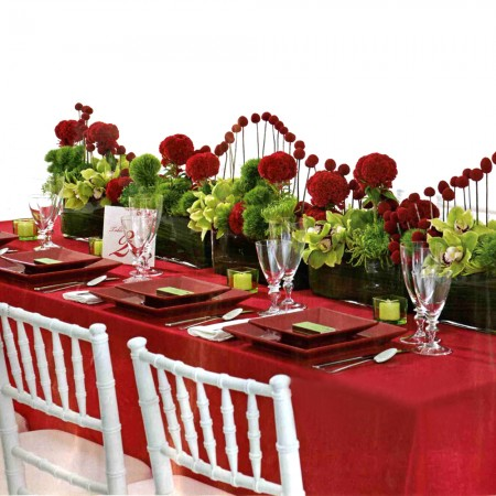 Romantic table set up