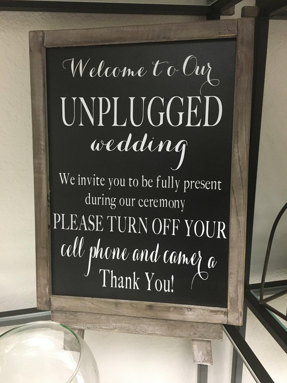 Unplugged Wedding -- $20