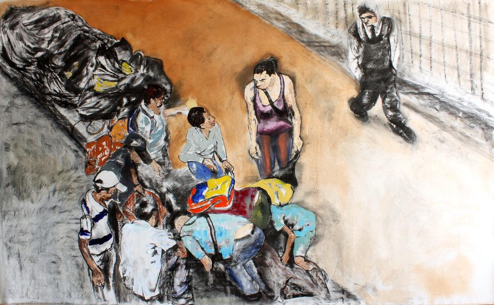 Un boceto para un dia como hoy, Oil on canvas, 200 x 335 cm, 2016.jpg