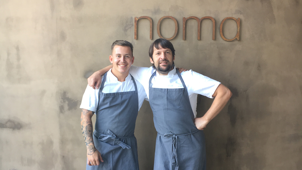 Elijah Holland and Rene Redzepi of Noma.