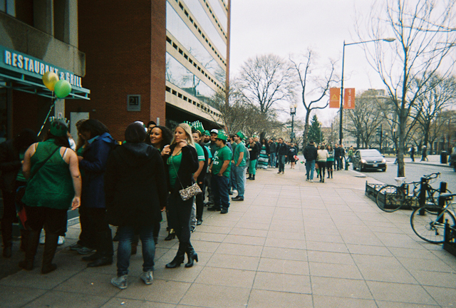 Freezing St. Patrick's Day At Dupont