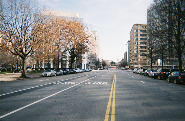 Pennsylvania Avenue Going Towards The White House