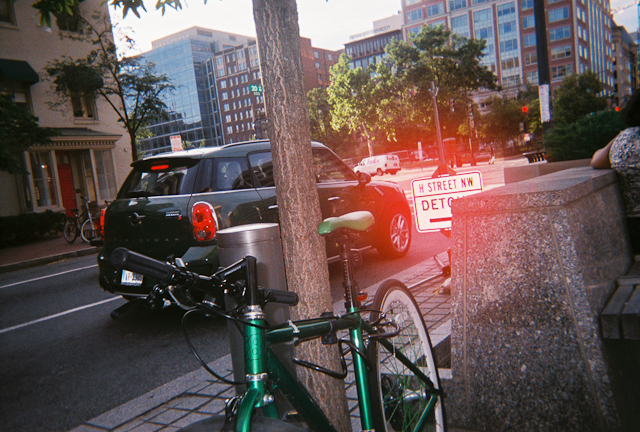 Green Bike With Green Car