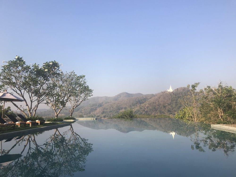 Mornings poolside at Veranda.