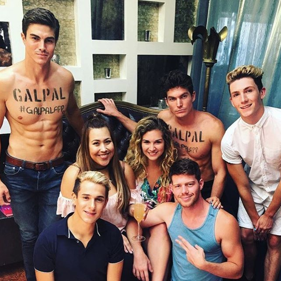 Influencer Daniel Miller, YouTubers Dion York and Sebastian Argo, and Creative Director Ambar Januel for GalPal App