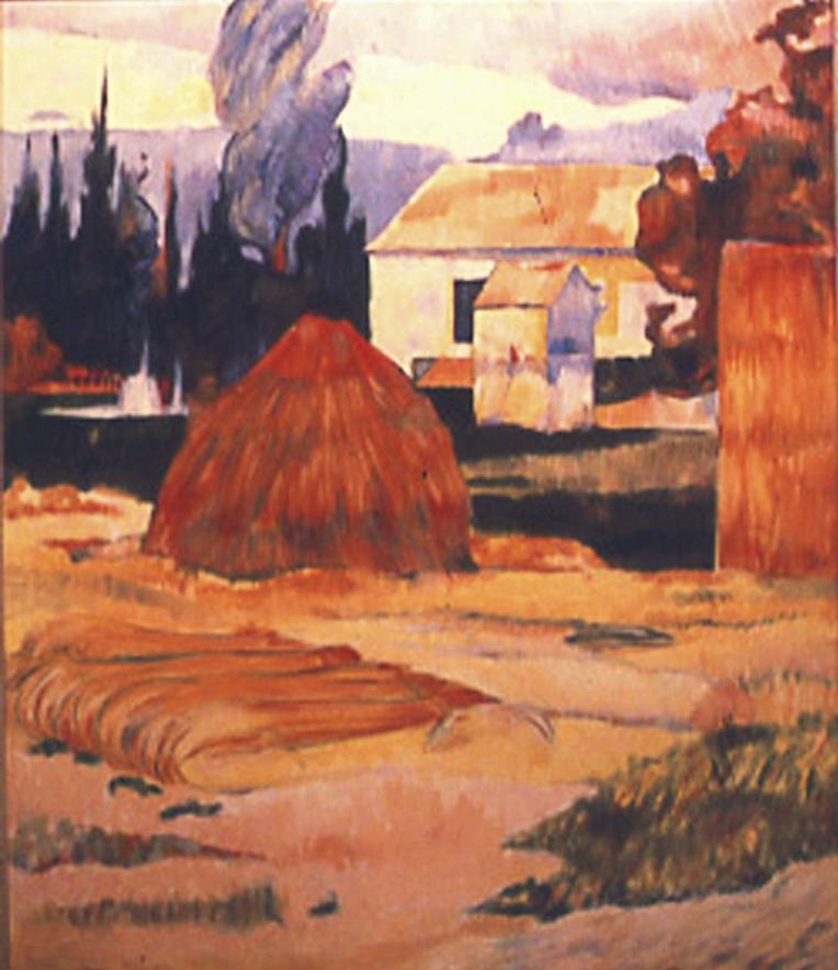 Landscape Near Arles - by Paul Gauguin