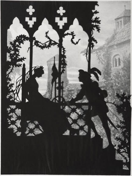 "From Lotte Reiniger's animation ""Sleeping Beauty"""