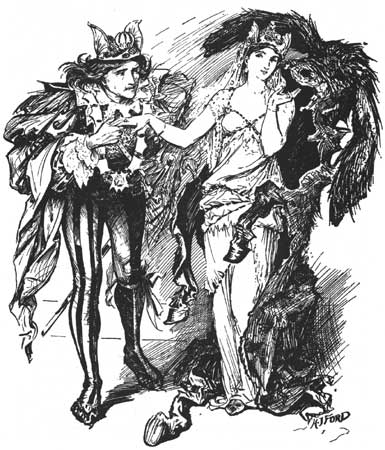 Illustration from Donkeyskin by H.J. Ford