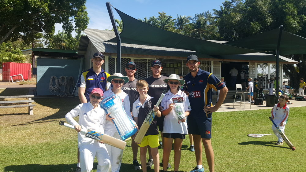 Happy players at last years Academy with head coach Ash Doolan and 1st grade skipper Luke Shelton!