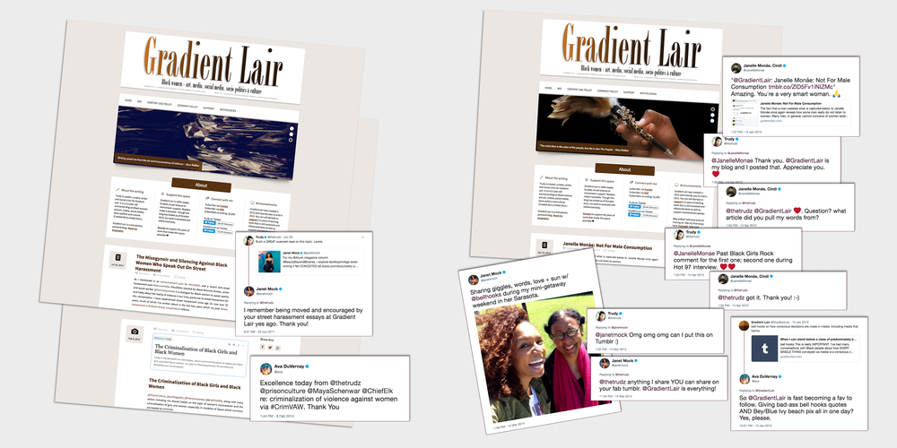 Feedback from Janelle Monáe, Ava DuVernay and Janet Mock on  Gradient Lair .