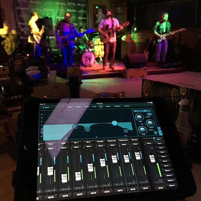 Mixing on a tablet. When running a snake through a venue to a physical mixer is just not practical.