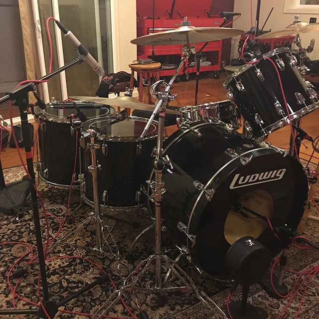 Big drums. Hopefully they sound as big as they look.