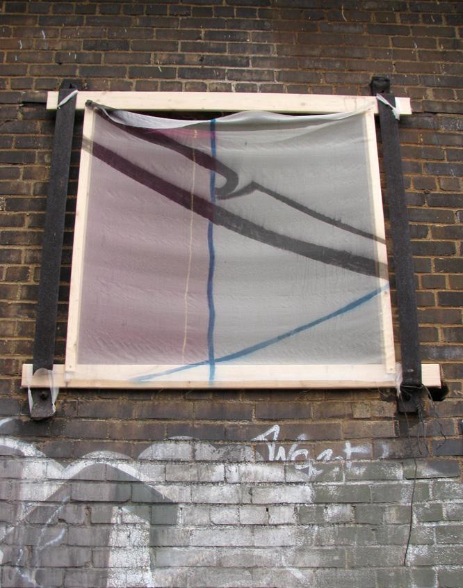 silk organza, procion dye, acrylic paint, wood    2015