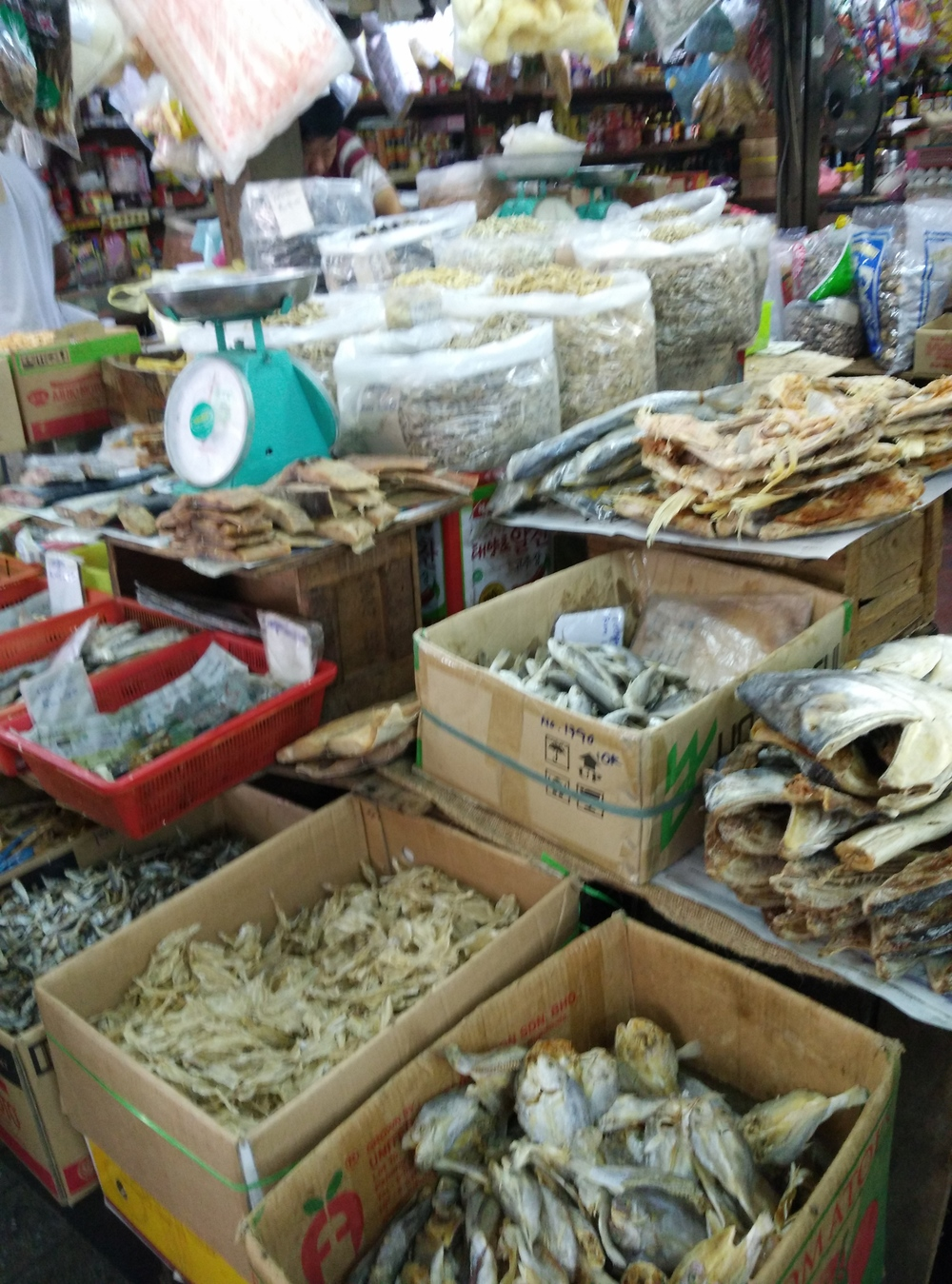 Salted fish at a market