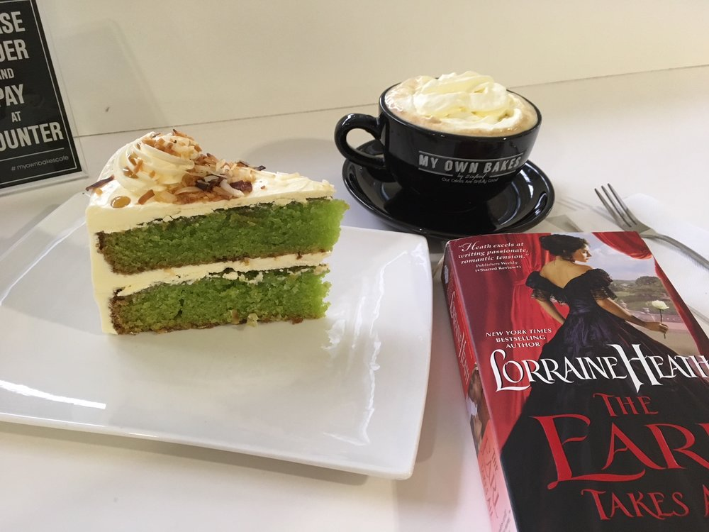 "Bookstagram of the month. The Baba Nyonya cake is delish, and in Adelaide, that cuppa Joe is called a ""Vienna"". It is simply black coffee topped with whipped cream. Try it. I'm mad about it."