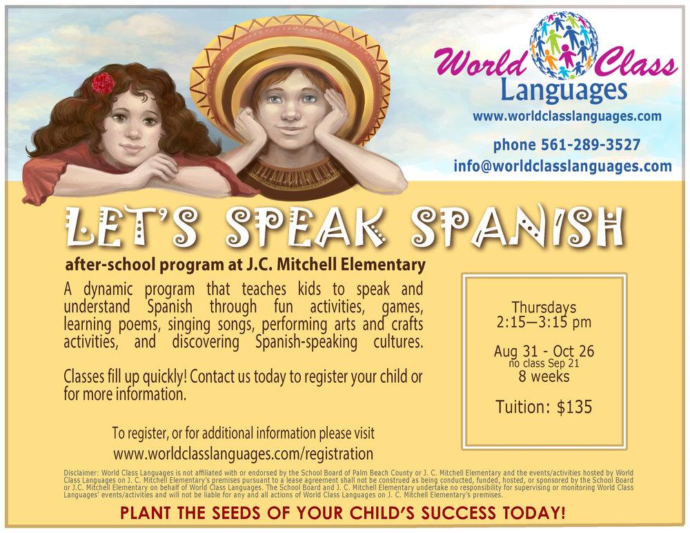 jcmitchell elementary spanish after-school program
