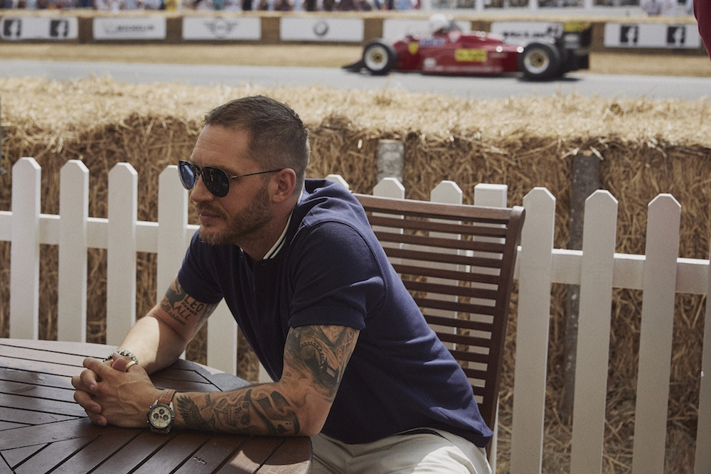 Tom Hardy for Mont Blanc @ 2018 Goodwood Festival of Speed