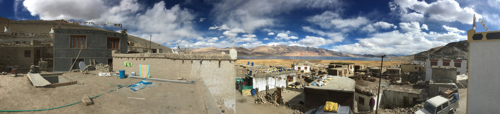 Panoramic view of Tso Moriri from the village of Korzok   (shot on phone)