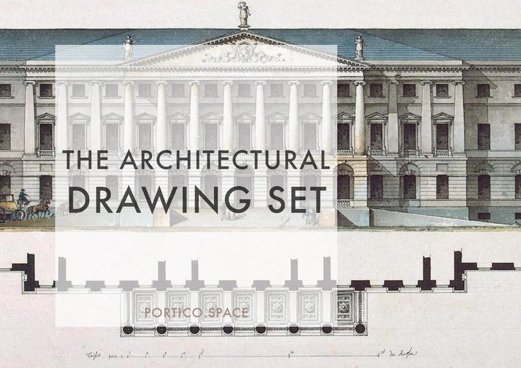Architectural Drawing Font the keys to a great architectural drawing set — portico