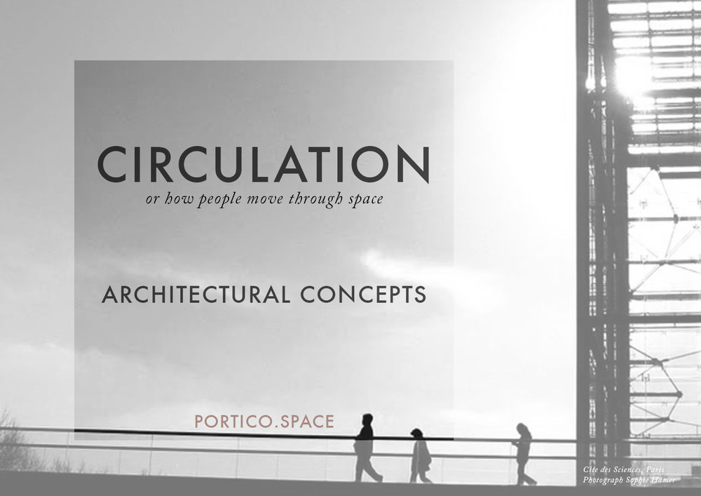ARCHITECTURAL CONCEPTS: CIRCULATION