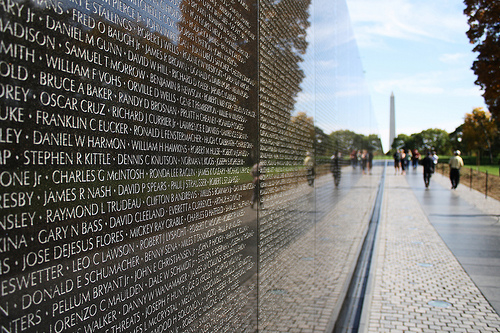"Maya Lin's ""The Wall"", Vietnam Memorial, Washinton DC. Photo by Derek Key."