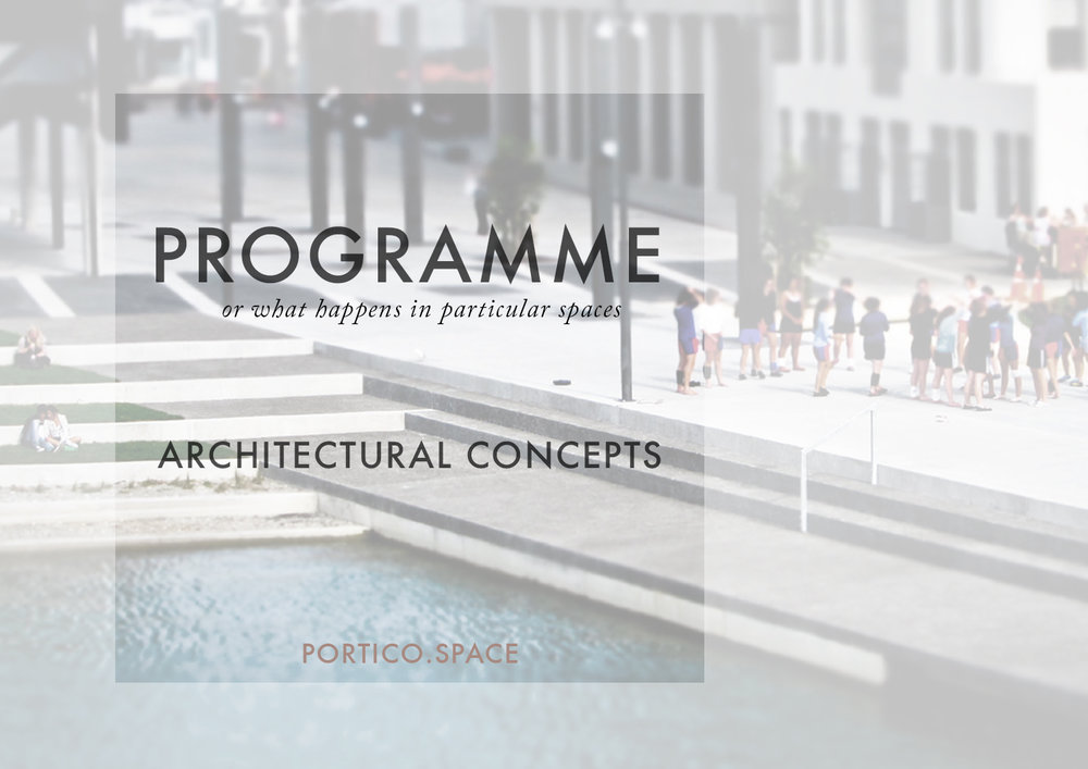 Architectural concepts programme portico for Architectural concept definition
